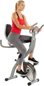 Sunny health & fitness folding exercise bike